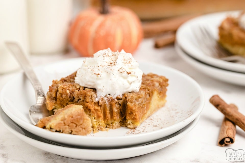 Easy Pumpkin Pie cake recipe