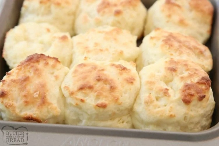 Easy Sour Cream Biscuit Recipe made from scratch in minutes with common ingredients. Perfect soft, flaky texture with fantastic butter flavor. This will be your new favorite biscuit recipe!