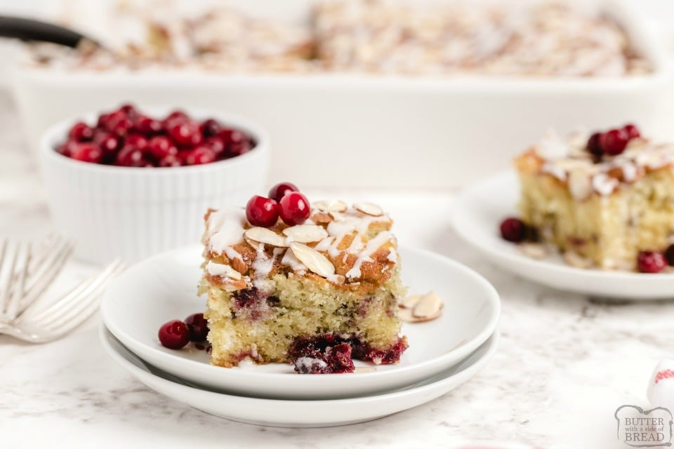 Spiced Cranberry Breakfast Coffee Cake recipe