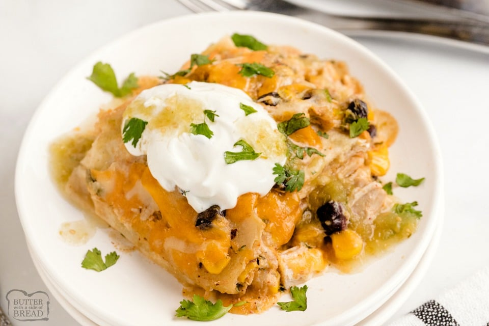 Mexican Chicken Lasagna, easy chicken dinner recipe