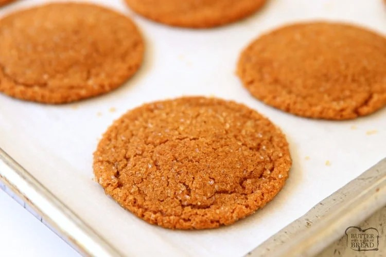 spiced ginger cookies