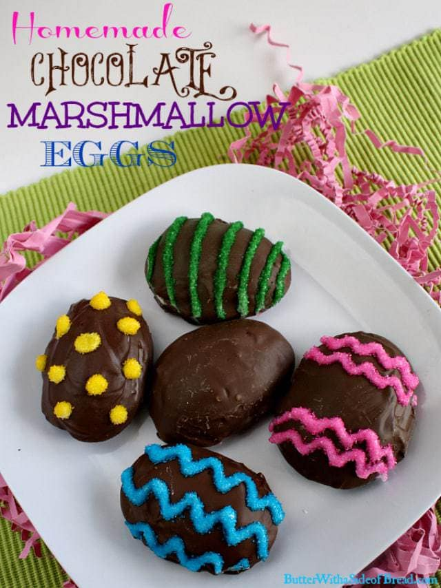 Butter With a Side of Bread: Homemade Chocolate Marshmallow Eggs