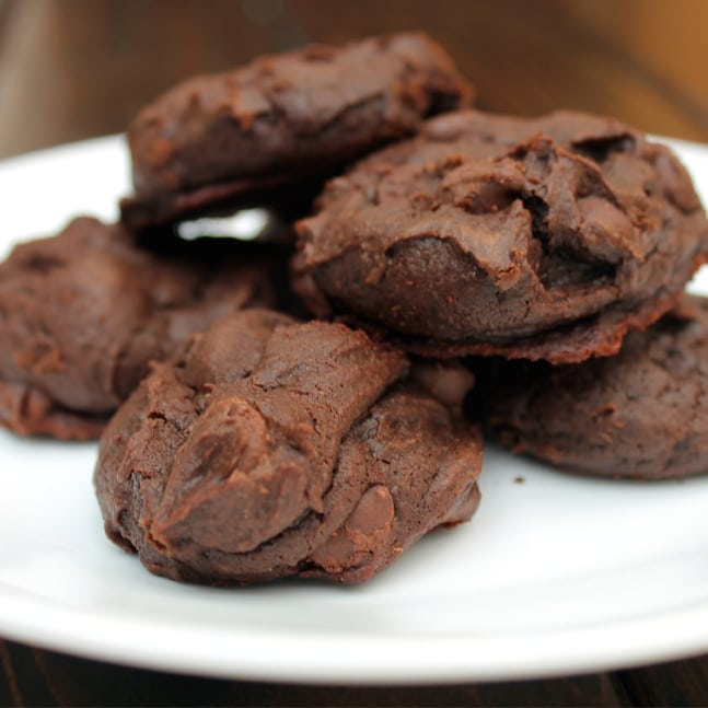 "We were invited by the bloggers behind ""Things for Boys"" to participate in their ""From the Book"" series where we take a recipe from a book that we have wanted to try and take a go at it. I decided to try these Chocolate Mint Cookies from the recipe book Sweet Eats by Rose Dunnington."