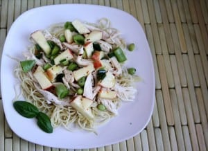 ASIAN CHICKEN & NOODLE SALAD: Butter with a Side of Bread