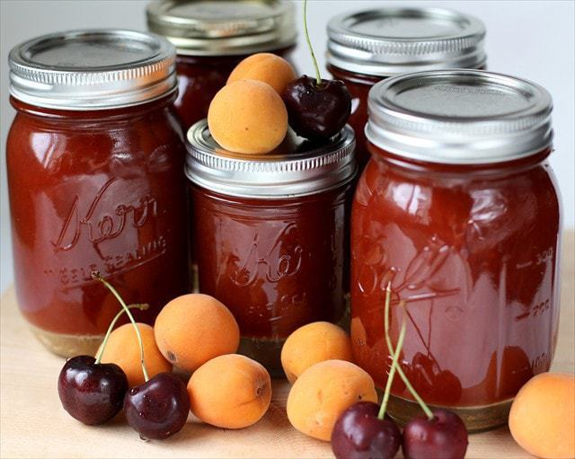 APRICOT CHERRY JAM: Butter with a Side of Bread