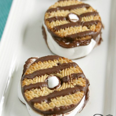 FUDGE STRIPED COOKIE S'MORES