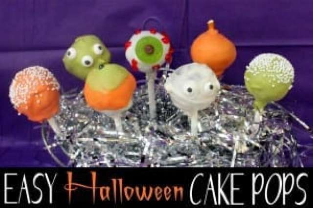 easy halloween cake pops:butter with a side of bread