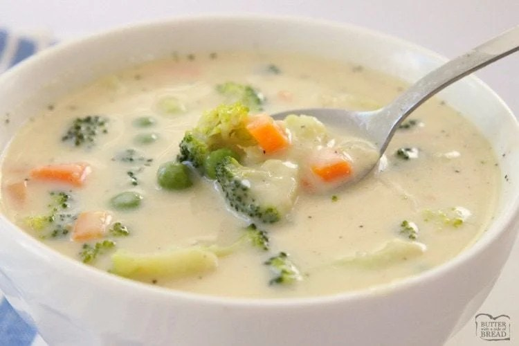 soup vegetable creamy recipe easy simple bread cold chowder side butterwithasideofbread print