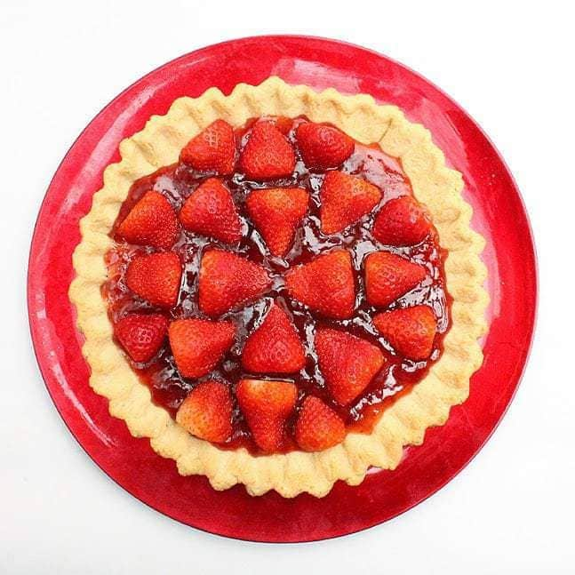 Glazed Strawberry Tart:Butter with a side of bread