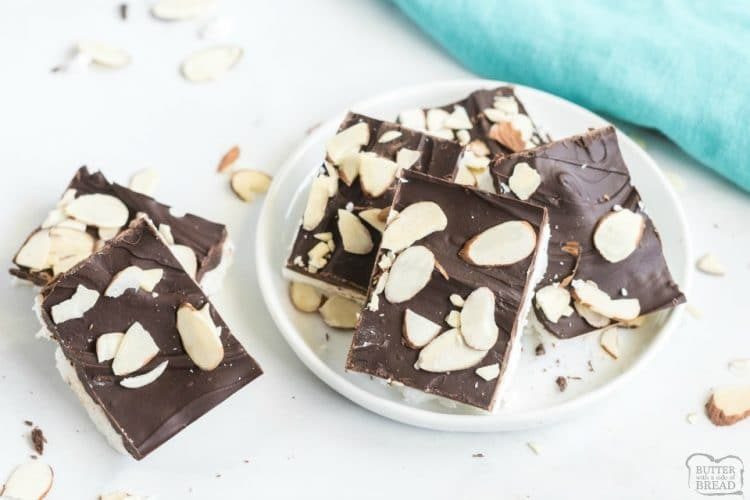 Low Sugar, Low Carb Homemade Almond Joy Bars