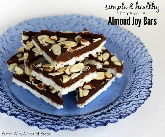 SIMPLE & HEALTHY HOMEMADE ALMOND JOY BARS: Butter With A Side of Bread