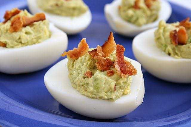 Butter With a Side of Bread: Bacon Avocado Deviled Eggs