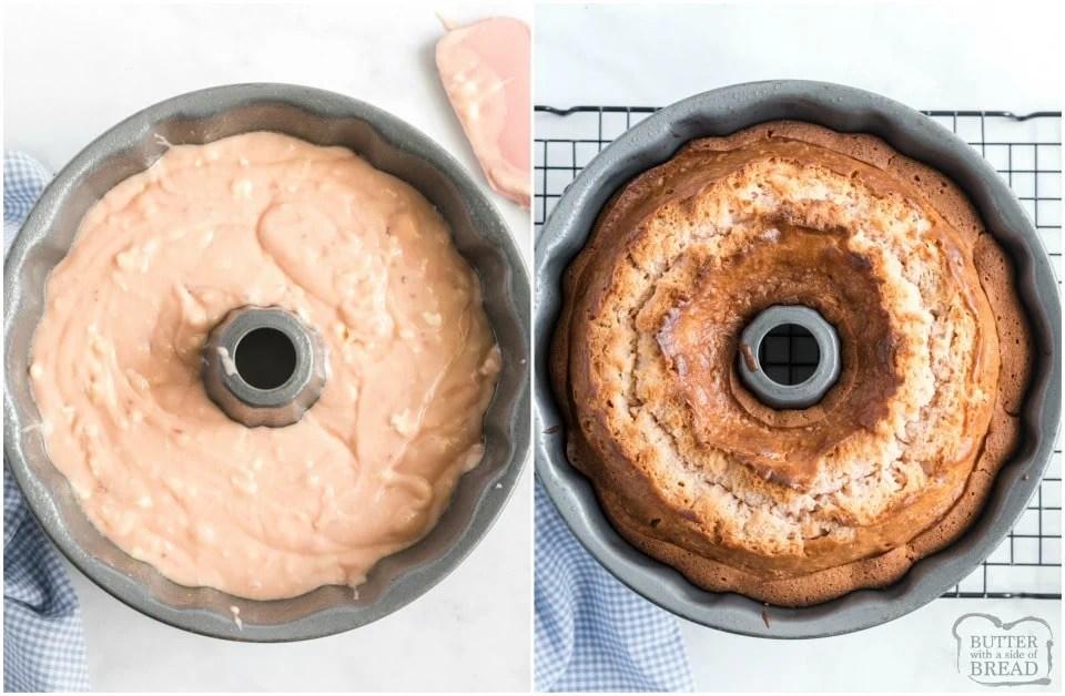How to make a Glazed Strawberry Bundt Cake Recipe