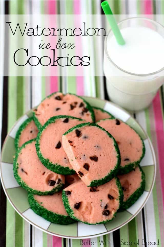 WATERMELON ICE BOX COOKIES: Butter With A Side of Bread