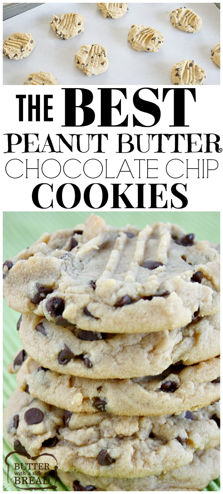 Peanut Butter Chocolate Chip Cookies are soft and chewy, and they turn out perfect every time! Start with an amazing Peanut Butter Cookie recipe and add chocolate chips to take these cookies to the next level!