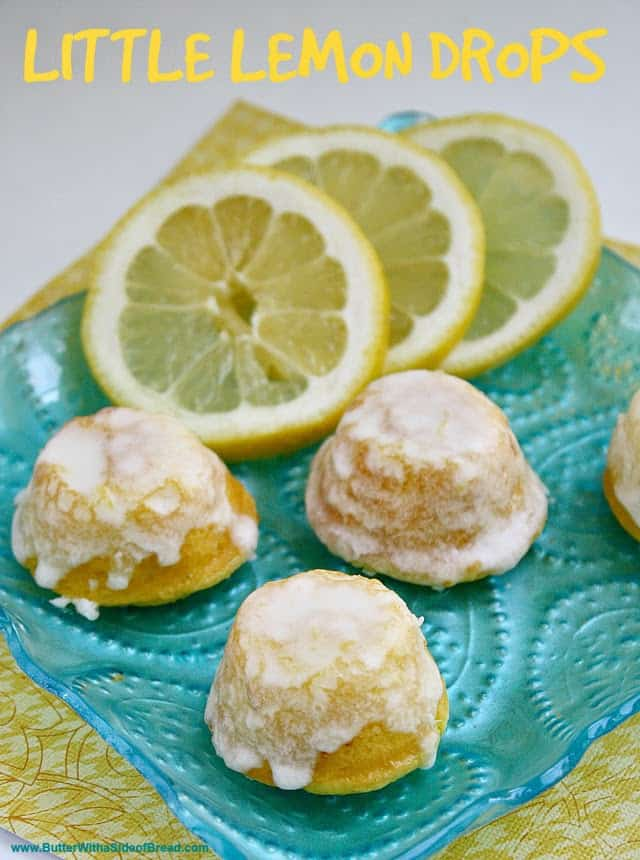 Little Lemon Drops are delicious bite-sized treats that start with a cake mix  - they are the perfect treat to take to your next party!