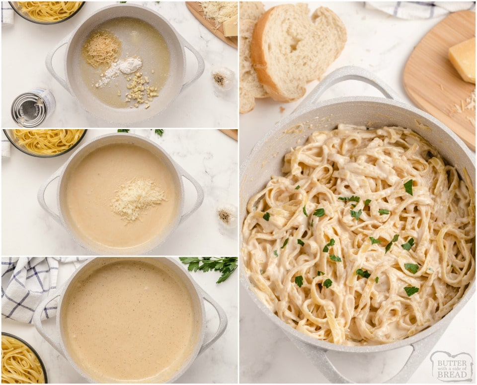 How to make Low Fat Alfredo Sauce
