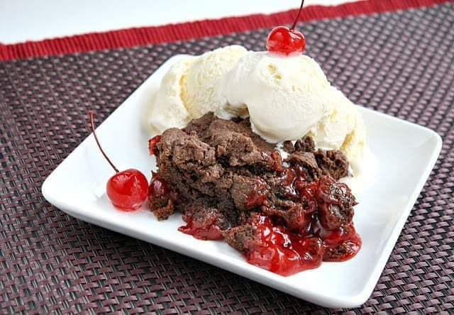 Butter With a Side of Bread: Chocolate Cherry Cobbler