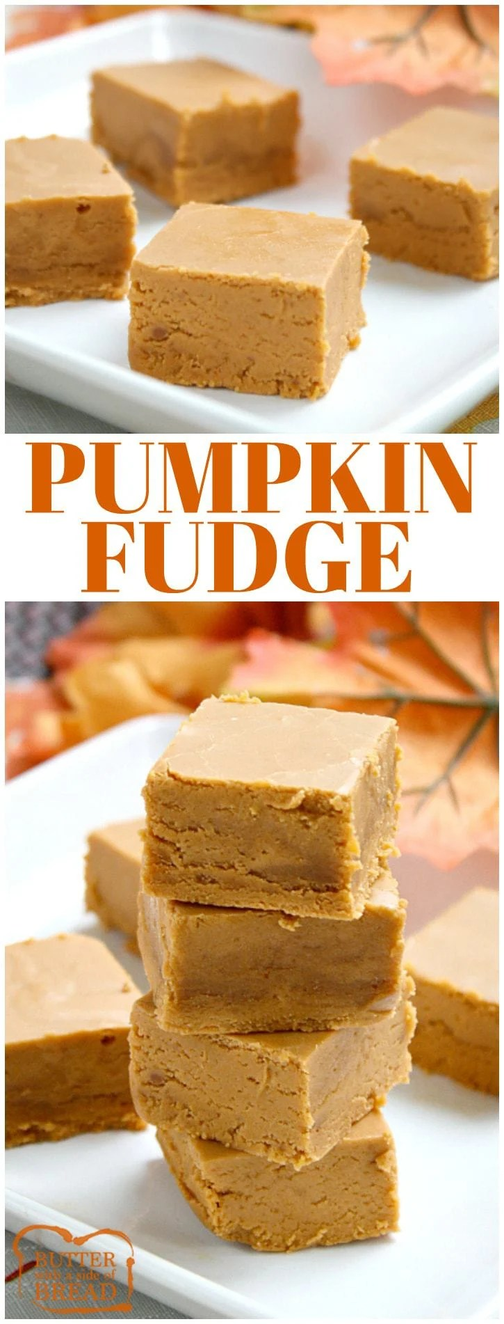 Pumpkin Fudge is made with pumpkin, cinnamon chips, marshmallow creme and a few other basic ingredients. One of our favorite fall candy recipes!