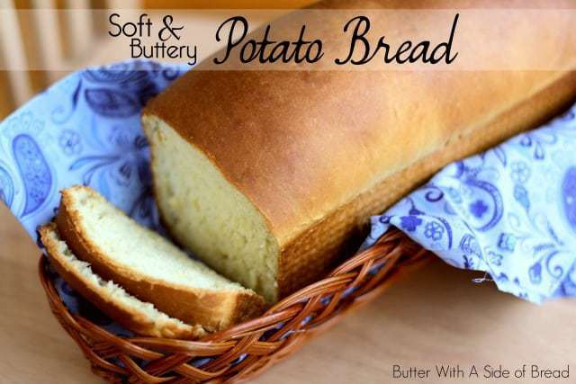 Potato Bread made with butter, milk, flour, eggs and your favorite mashed potatoes. Potato Bread is easy to make & has fantastic buttery flavor and a light texture.