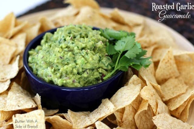 ROASTED GARLIC GUACAMOLE: Butter With A Side of Bread