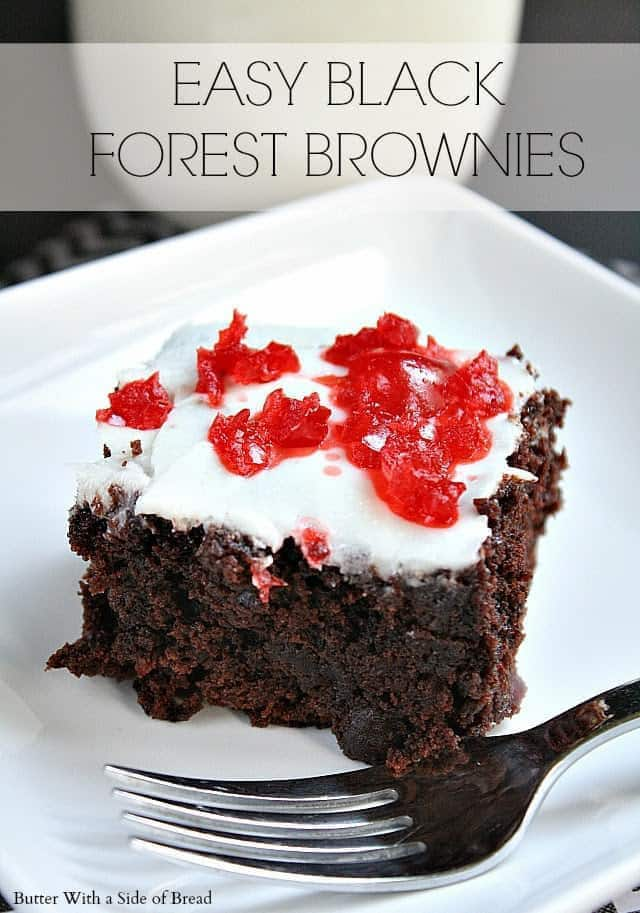 I love brownies, but I always feel like I need to add something to them so when I saw this recipe, I knew I had to try it since I love the chocolate/cherry combination.