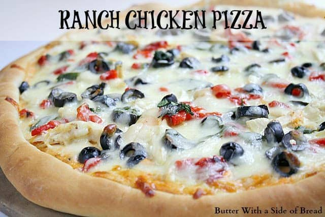 Butter With a Side of Bread: Ranch Chicken Pizza