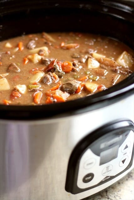 The Best Crockpot Beef Stew.Butter with a Side of Bread 022