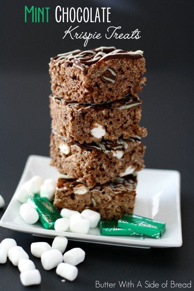 MINT CHOCOLATE KRISPIE TREATS
