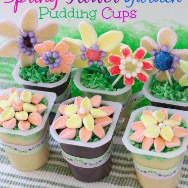 Spring Flower Pudding Cups