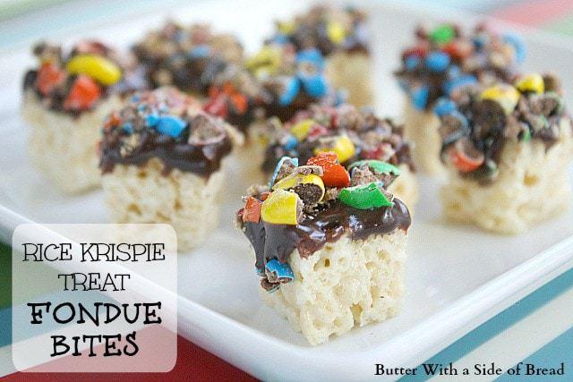 Butter With a Side of Bread: Rice Krispie Treat Fondue Bites