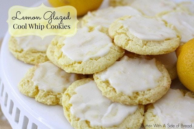 Lemon Glazed Cool Whip Cookies ~ Butter With A Side of Bread