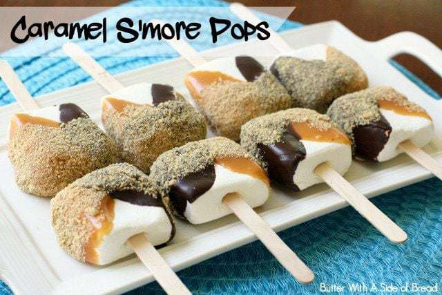 Caramel S'more Pops - Butter With A Side of Bread