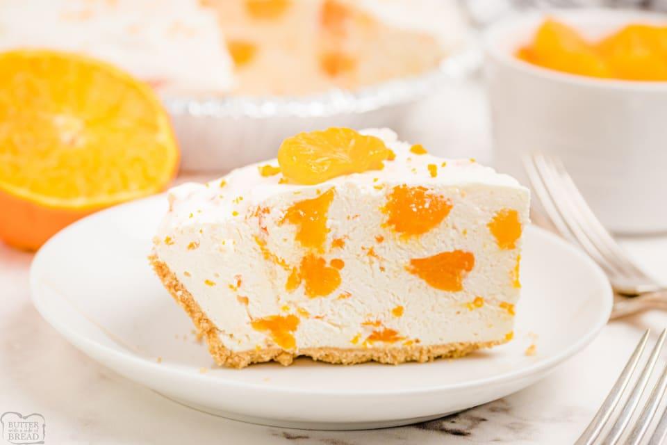 Easy No-Bake Orange Creamsicle Cheesecake recipe