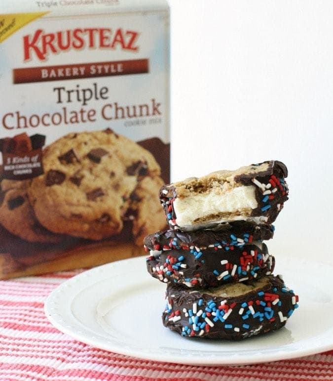 Cookie Ice Cream Sandwiches, made with Krusteaz mix #Bakers13 #SeizetheKrusteaz Butter With a Side of Bread