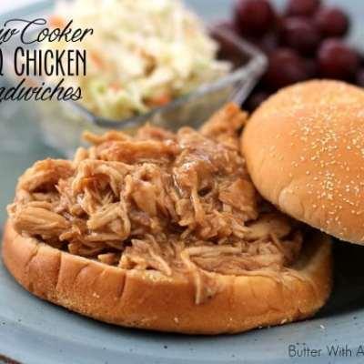 SLOW COOKER BBQ CHICKEN SANDWICHES {ZAYCON FRESH NATURAL CHICKEN}