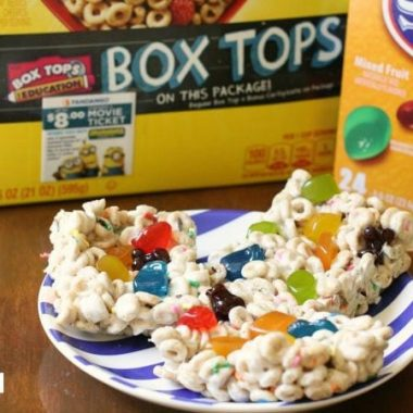 Fruity Cheerios Bars . Box Tops for Education - Butter With A Side of Bread