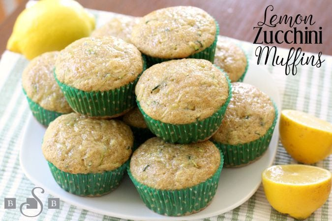 Lemon Zucchini Muffins are a favorite when the garden is bursting with fresh zucchini! You'll love the fresh, bright flavor of added lemon and cinnamon too.