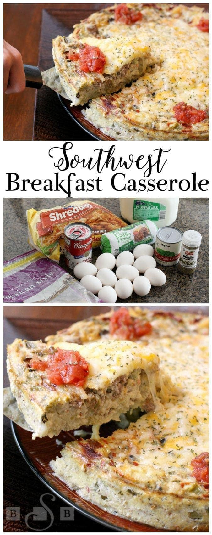 Southwest Breakfast Casserole - Butter With A Side of Bread