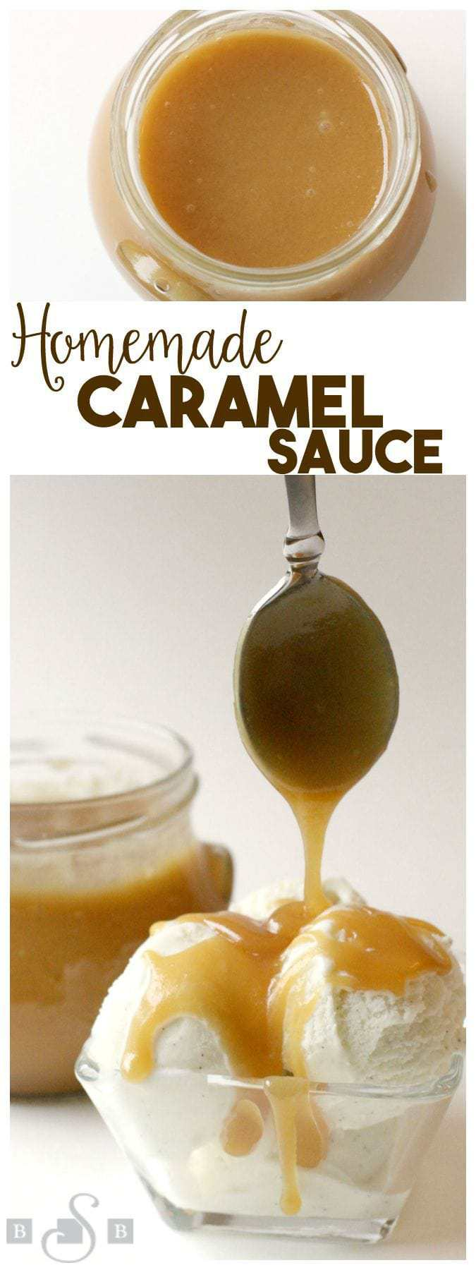 This recipe for caramel sauce has been in my husband's family for as long as I've known them. This recipe is the real deal- heavy cream and butter give it a delicious flavor that's irresistible. It's not difficult to make and there's no candy thermometer required. It's perfect drizzled over ice cream, on top of cakes, cookies- you name it! This caramel sauces firms up when cool, so it's also great for coating pretzels, apples, etc.