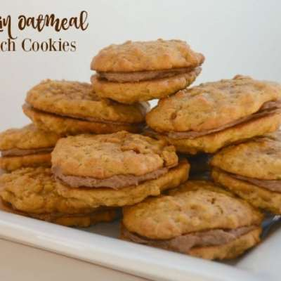 PUMPKIN OATMEAL SANDWICH COOKIES