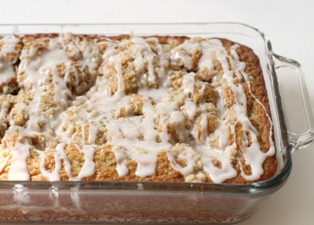 Banana Breakfast Cake is a delicious banana and cinnamon breakfast cake with a tasty glaze drizzled on top! Everyone loves when we have this for breakfast!