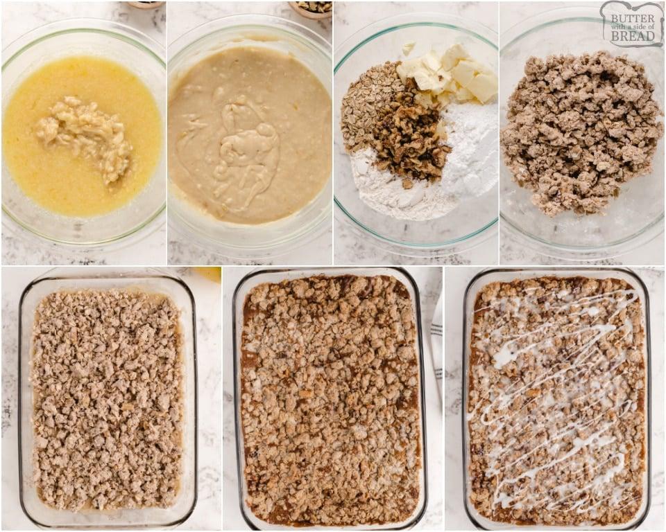 How to make Cinnamon Banana Coffee Cake recipe
