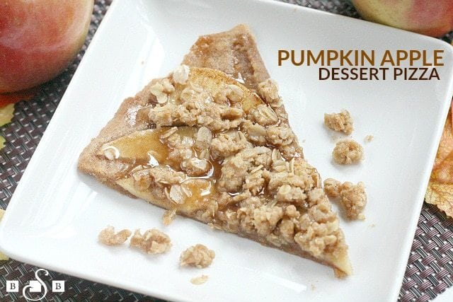 Pumpkin Apple Dessert Pizza - Butter With a Side of Bread