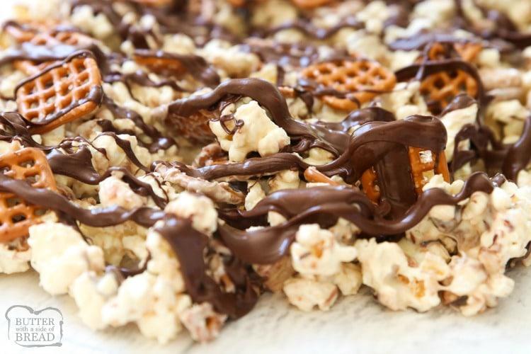 chocolate covered popcorn recipe
