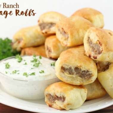 Easy Ranch Sausage Rolls - Butter With A Side of Bread