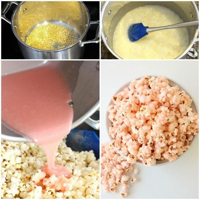 Pretty In Pink Popcorn - Butter With A Side of Bread