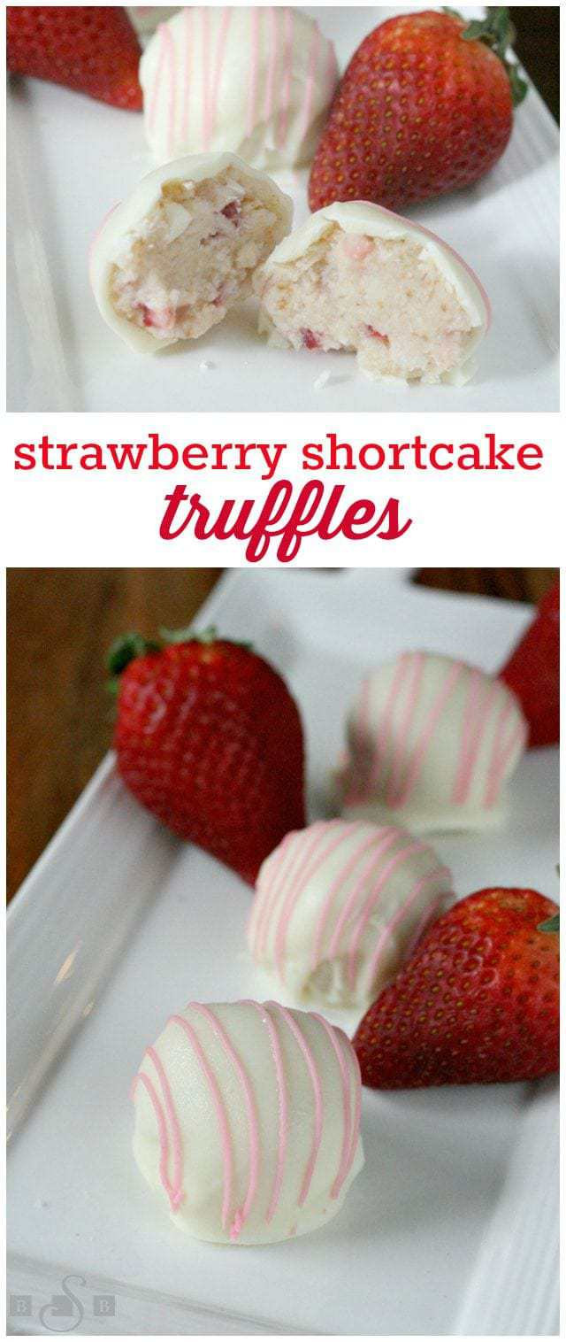 Strawberry Shortcake Truffles - Butter With a Side of Bread
