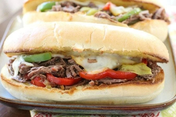 Slow Cooker Italian Beef Sandwiches - Butter With A Side of Bread
