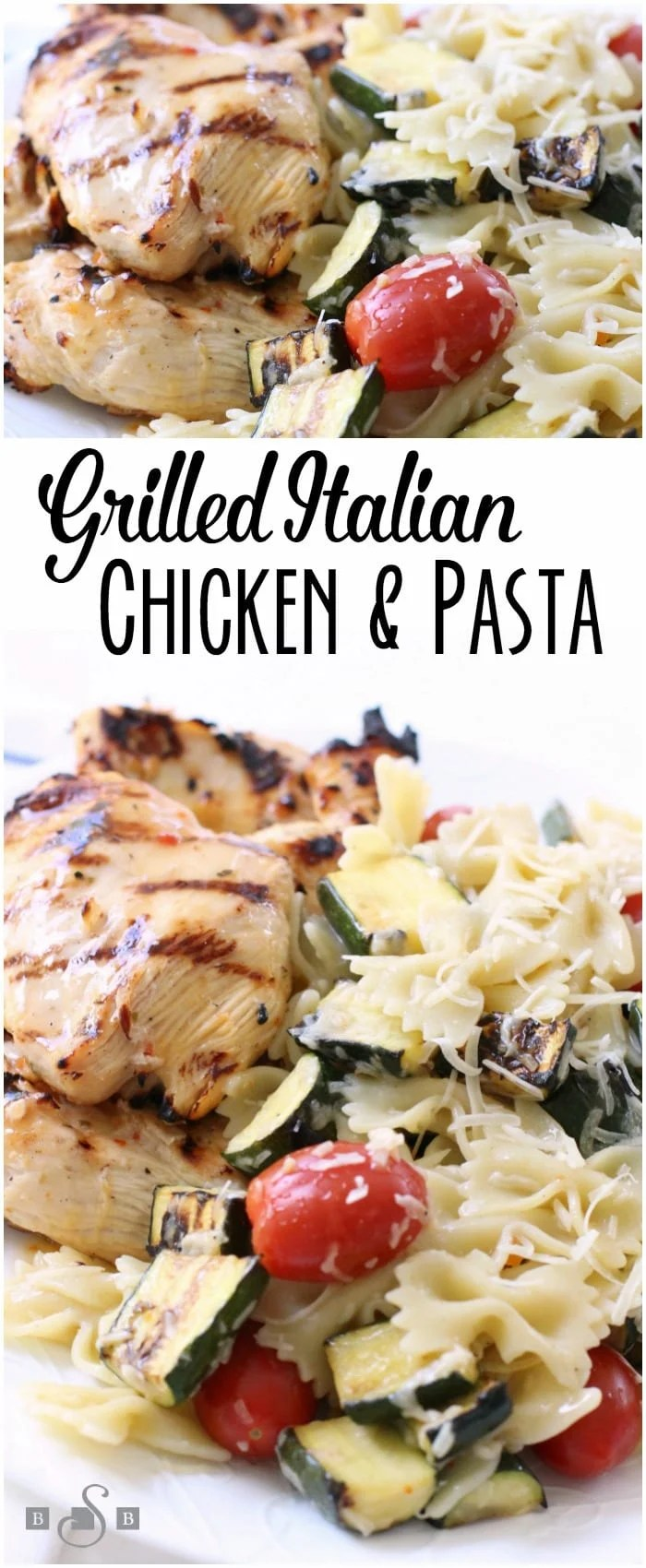 Grilled Italian Chicken is a simple & delicious summer dinner. Italian dressing adds fantastic flavor in the tender grilled chicken & vegetables.